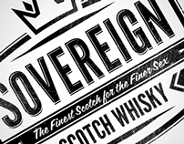 Sovereign Scotch Whisky / Label & Logo design