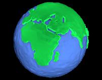 Low Poly Globe.