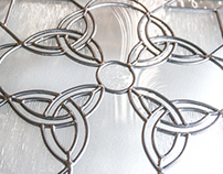 Custom Designed Stained Glass Window - Celtic Cross