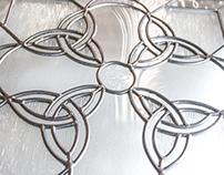 Custom Designed Stained Glass Window - Celtic Cross