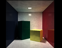 Stochastic ray tracer (C++, OpenGL)