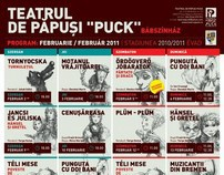 PUCK Puppet Theatre - monthly program posters