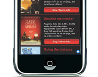 Kolding Cinema Mobile website (school project)