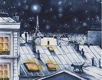 Blue night in Paris