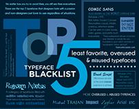 Top 5 Typeface Blacklist
