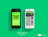 Blast Off Arts App Design (SB Arts)