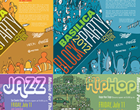 Basilica Block Party Posters