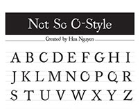 Not So O-Style - Original Font