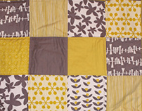Modern Grey and Yellow Patchwork