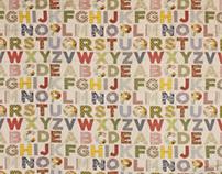 Large Letters Modern Block Quilt