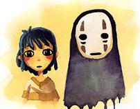 Chihiro and Kaonashi