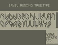 Bambu Runcing Font 1.0 lite