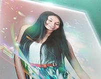 Poster Mock-up: Vibrant Lady