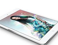 iPad Layout: Vibrant Lady