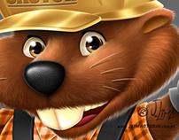 Mascot Design Beaver in 3d.