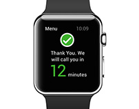 Callback booking interface for Apple Watch