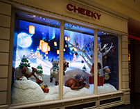 Christmas Window Display 2015 // CHEEKY
