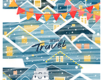 Travel. Postcard