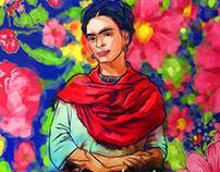 Ilustração Frida Khalo