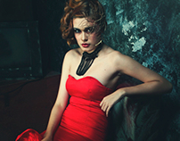 Lady in Red Gown