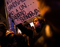 Second day of protests in support of Gamonal in Madrid