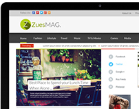 Zues Wordpress Magazine Blog Theme Design