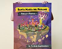 Cartel Ferias y Fiestas 2013 - Santa María del Páramo