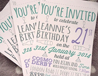 21st Invitations