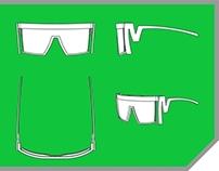 Óculos Caligrafia, Calligraphy Sunglasses