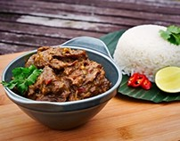 Make real Indonesian Rendang