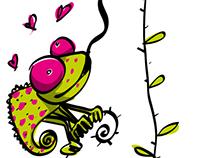 Caméléon amoureux / chameleon lovers
