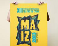 Cartel Festival Internacional Teatro de Calle MAIZ 2013