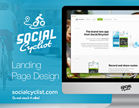 Social Cyclist - Landing Page