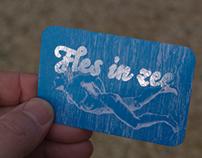 Business card Fles in zee