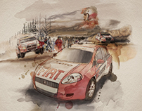 Fiat Rally Team Illustrations