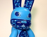 "Caeruleum. 8"" Bunny Qee for Swab Toyz by FLS"