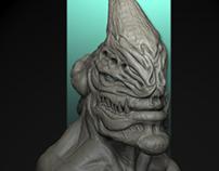 Creature DNus Sculpting Zbrush