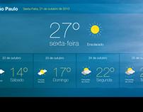 Interface Clima Tempo
