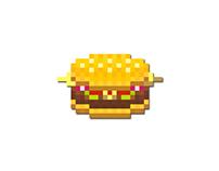 Pixel art (Mcdonald's Cheeseburger)
