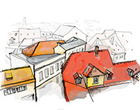Vilnius' roofs / Graphic Design