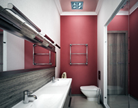 Pink master bedroom.