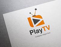 Play Tv Logo Template