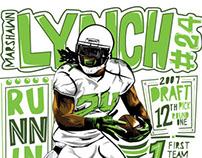 Marshawn Lynch Illustration x 500 Level