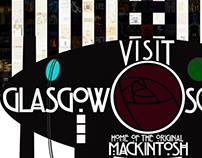 Charles Mackintosh Glasgow Travel Poster