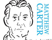 Typographic Portrait of Matthew Carter
