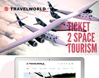 Travelworld Coronado Space Tourism Website UI Design