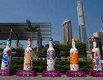 Wine Bottle Installation Art