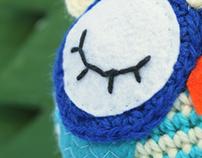 Amigurumi sleepy owl