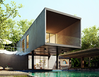 [3DS max training] Forest Modern House