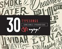 30 TYPESONGS / Canciones tipográficas